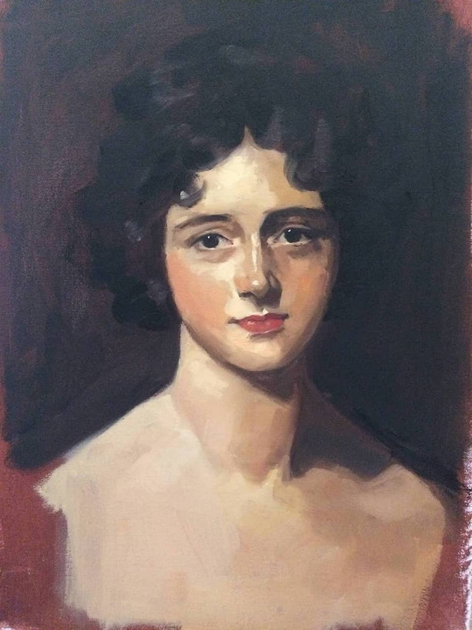 study of Portrait of Miss Rosamond Croker (Lawrence)